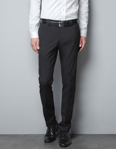 TROUSERS WITH SKULL PIN - Suits - Man - ZARA
