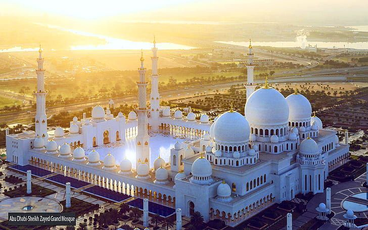 Sunset Abu Dhabi Sheikh Zayed Grand Mosque United Arab Emirates Desktop Hd Wallpapers 1920 1200 Hd Wallpaper Sheikh Zayed Grand Mosque Grand Mosque Abu Dhabi
