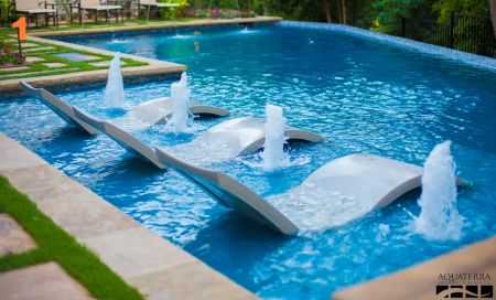 Infinity Edge Pool | Bubblers | Loungers