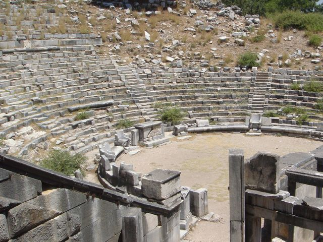 Priene theater. Priene, Turkey
