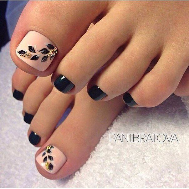 trendy black toe nail colors to finish a stylish look picture 1 - Toe Nail Designs Ideas