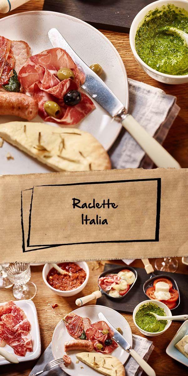 Hier ist eine weitere tolle Raclette-Rezept-Variation! Beim Raclette Italia werden leckere italienische Zutaten wie Antipasti, Pancetta und selbstgemachtes Pesto rosso verwendet. Schmeckt herrlich mediterran. Probiert es aus und lasst es euch schmecken.