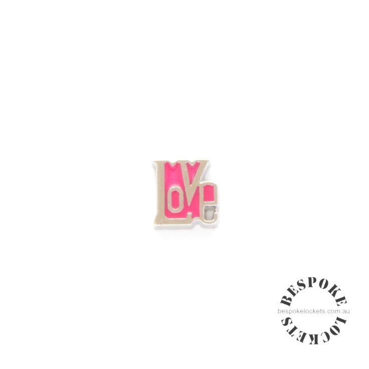 Pink Word Love - Floating Charm