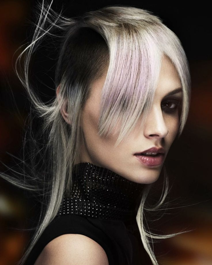 SPECTRA COLLECTION 2015 Iced lilac grey on a modern mullet ! Hair by Mark X
