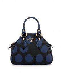 I think I likey...Black/Blue Polkamania Bag 7160