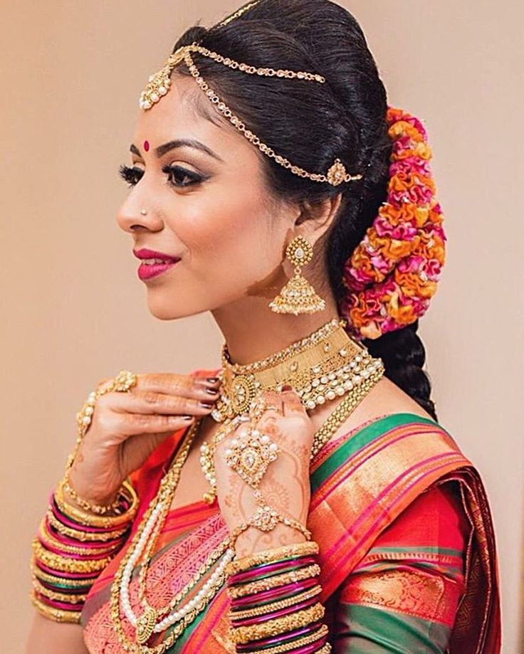 Tamil Bride Hairstyle: 10 Best Images About Gajra * On Pinterest
