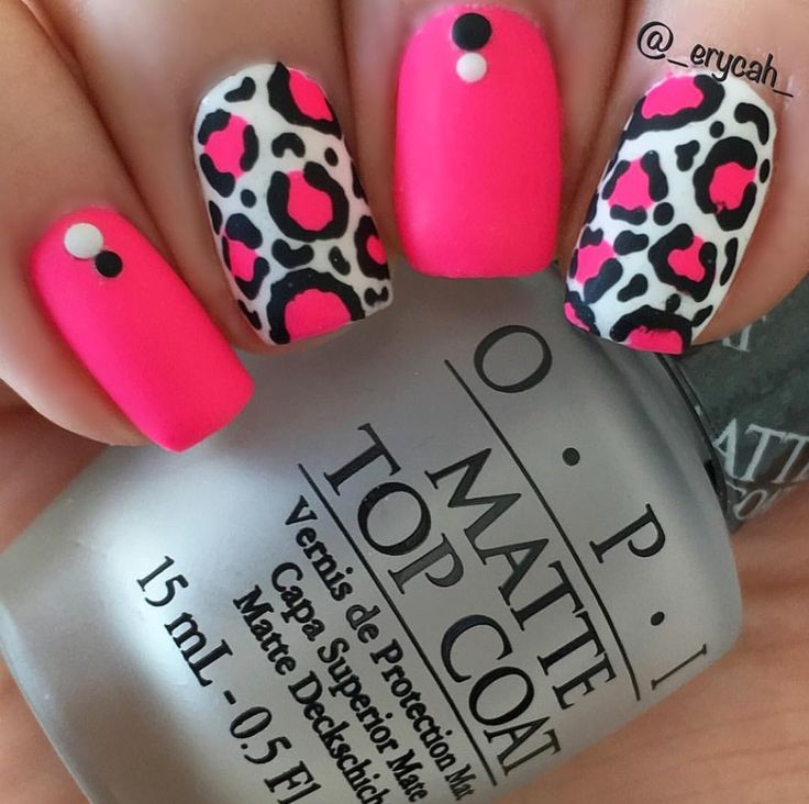 Leopard nails with Beach Cruiser by Orly