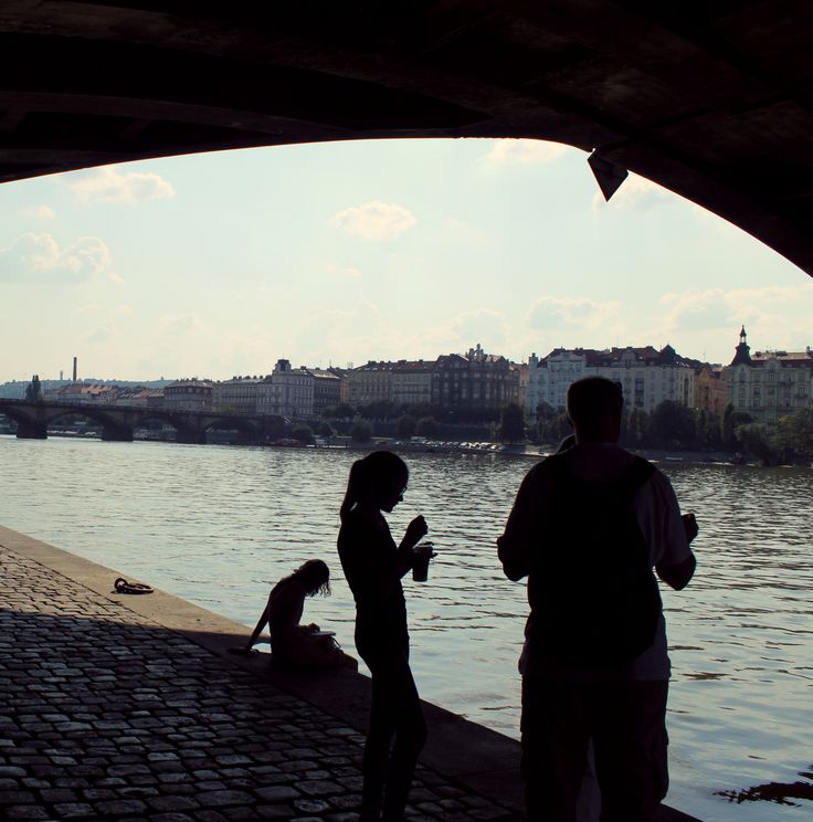 sunny afternoon by the river Vltava #Prague