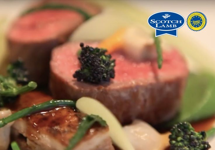 Slow cooked Scotch lamb flank, salt baked Kohlrabi and broccoli purée recipe from Quality Meat Scotland
