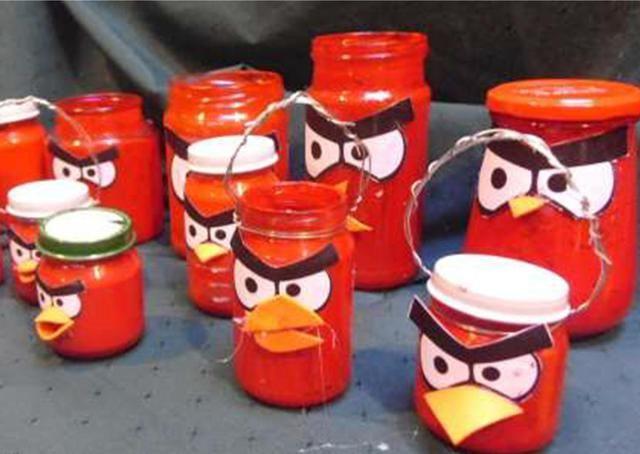 angry bird jars