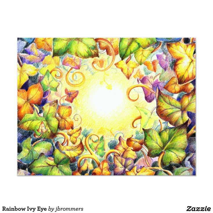 Rainbow Ivy Eye Card  Like a sun shining through the card. Beautiful...