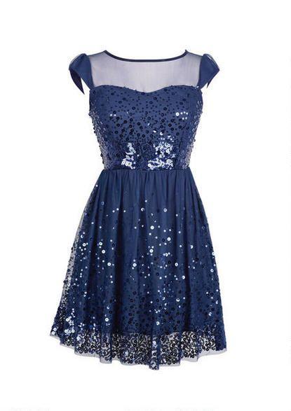 Cap Sleeve Sequin Mesh Dress. $64.90 dELiA's