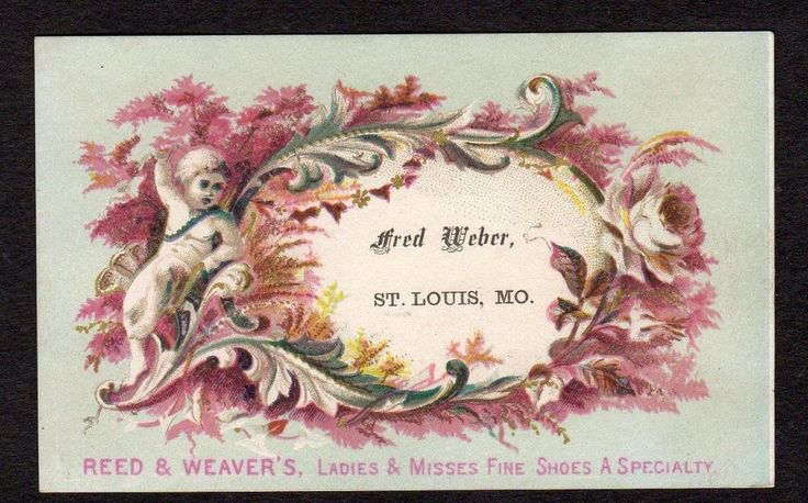ST LOUIS MO*FRED WEBER*REED & WEAVER'S BOOTS & SHOES*EASTON*VICTORIAN TRADE CARD