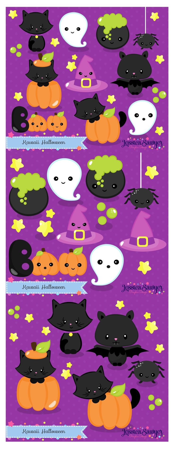 Halloween Clipart and cute drawings for Planner Stickers, Crafts, and products