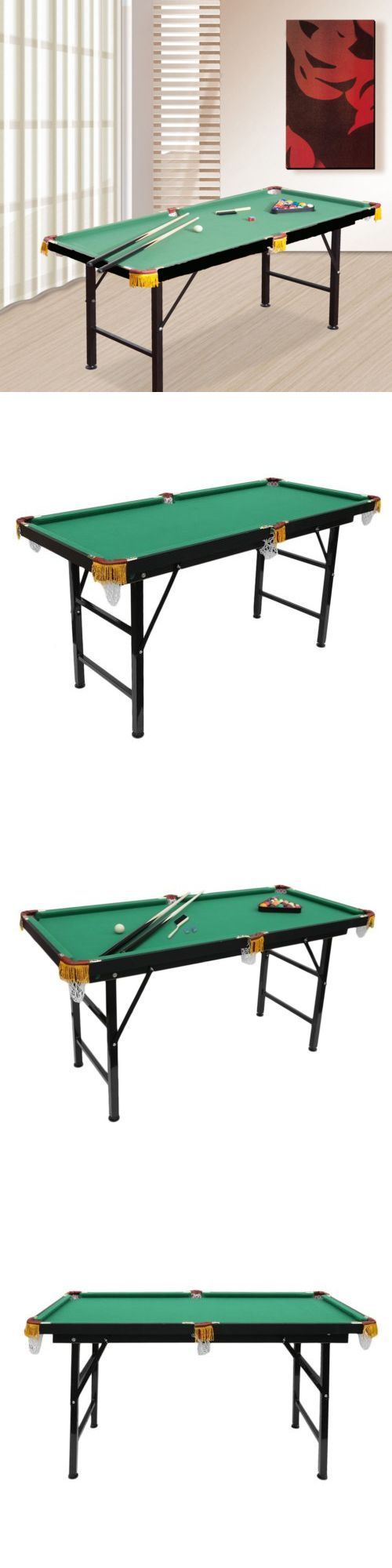 Other Billiards 1292: 55 Portable Billiard Pool Table Top Indoor Game Balls Cues Board Billiards Set -> BUY IT NOW ONLY: $116.98 on eBay!