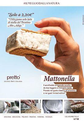 """#MATTONELLA PRETTO? #ILMEGLIODALLANATURA Se non l'hai mai assaggiata, è arrivato il momento. Un morso tira l'altro ( o come dice una nostra cliente: una fila di morsi! )… a soli 2,20€ ! Provala nei gusto classico all'amaretto o nei gusti """"Limited Edition Pretto"""" Buona giornata a tutti! --- #MATTONELLA PRETTO? #THEBESTOFNATURE If you've never tasted it, it is time. One bite leads to another (or as one of our customers says: a string of bites!) ... Just € 2.20! Try it in the classic…"""