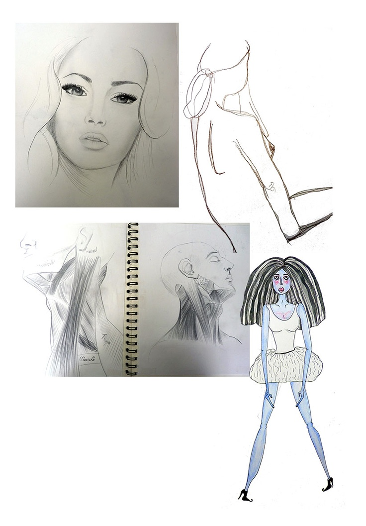 Fashion and Textile Design: illustrations from our Level 4 students