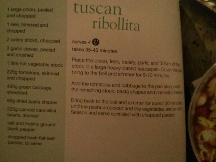 Tuscan ribollita from Slimming World's little book of soup ...