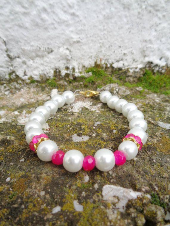 Pearl queen OOAK friendship bracelet / Bohemian bracelet / Summer bracelet/ jade beaded bracelet / semiprecious jewelry / Ethnic bracelet