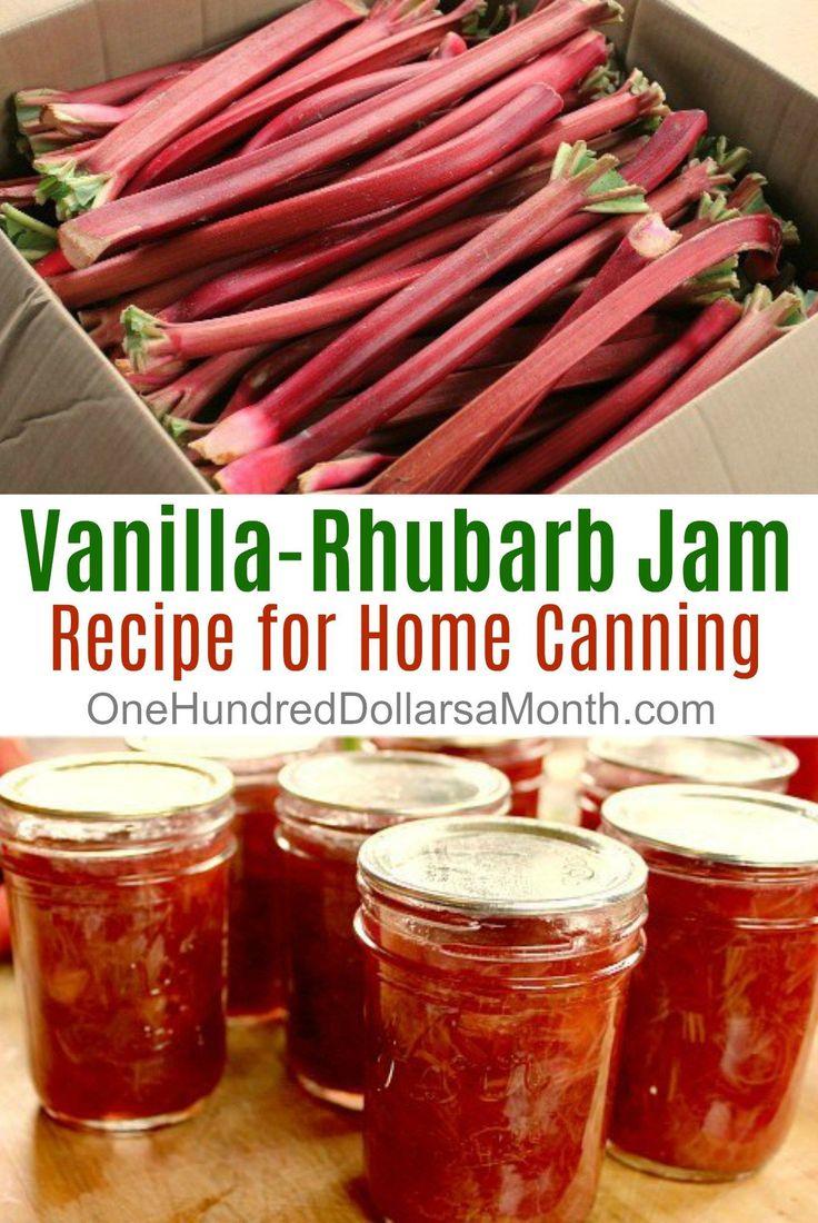 Vanilla-Rhubarb Jam, Rhubarb Recipes, Rhubarb Jam, Canning Recipes, Jam Recipes