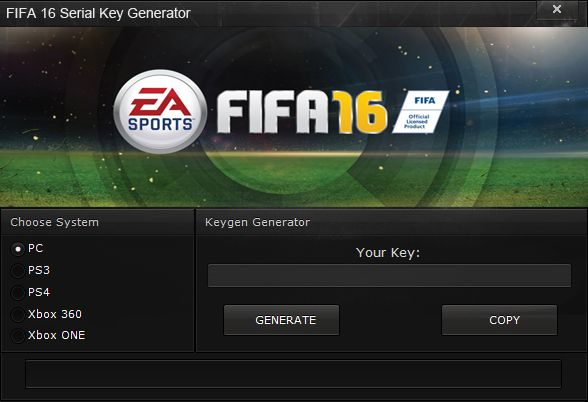 FIFA 16 Serial Key Generator