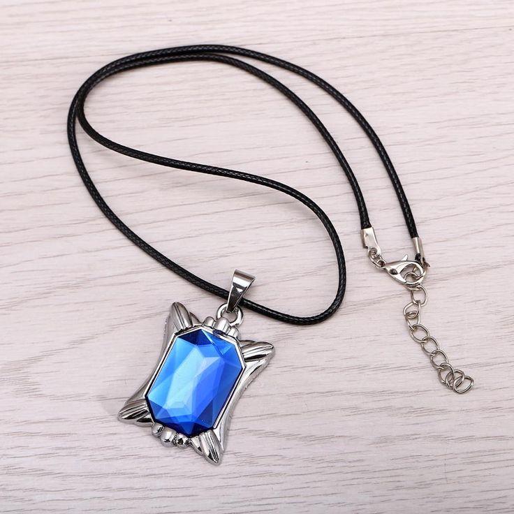 Black Butler Ciel Blue Crystal Anime Necklace