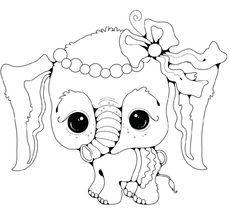 Baby Elephant Coloring Pages (With images) Elephant