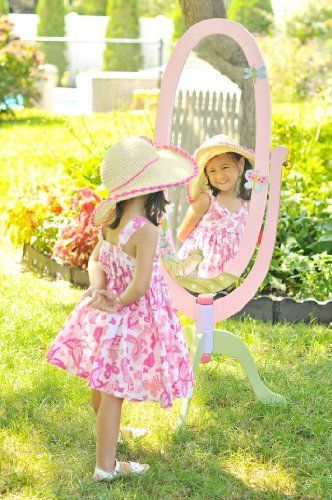 Teamson Kids Girls Standing Mirror - Magic Garden Room Collection by Teamson, http://www.amazon.com/dp/B002VHGUI6/ref=cm_sw_r_pi_dp_vKWXrb12EH4DA