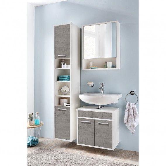 Spiegelschrank Manado Waschbeckenunterschrank Spiegelschrank