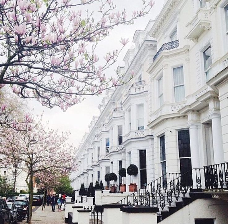 Architecture // London white townhouses