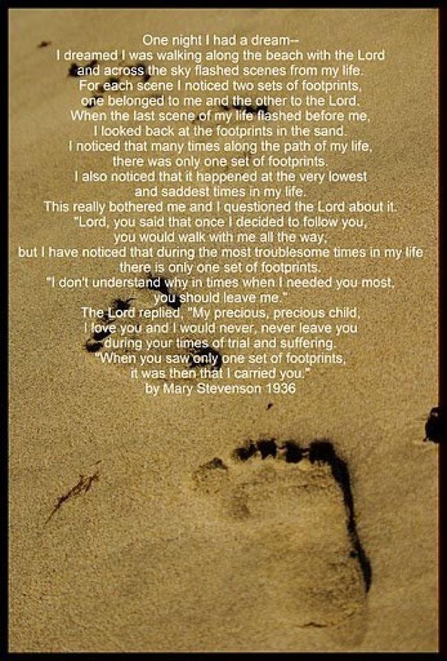 footprints in the sand poem pdf