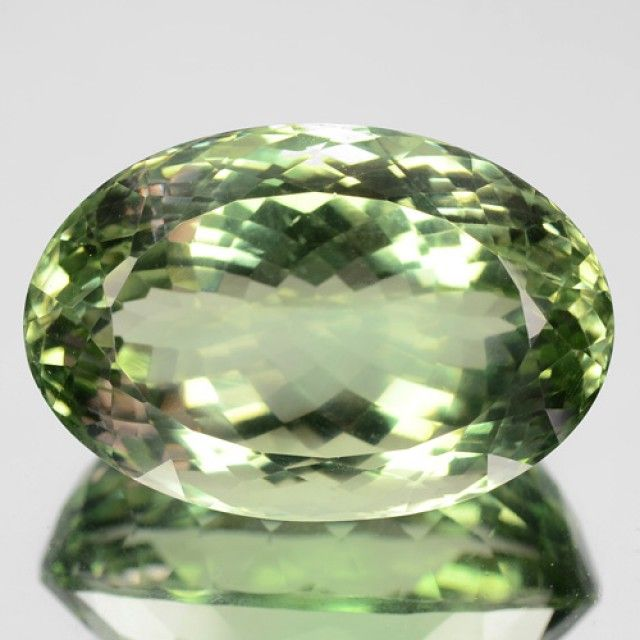 47.73 Cts Natural Prasiolite Green Amethyst Oval Cut Brazil Gem