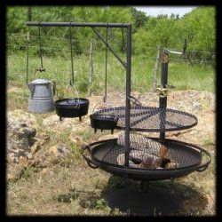 I'd love this, unfortunately around our area fires are more often than not above ground....I am wondering about an A-frame installed cooking ground like a saw with one of the European groups you have all the benefit of a ground fire, without the constant ducking and crouching....but...it is less....primal