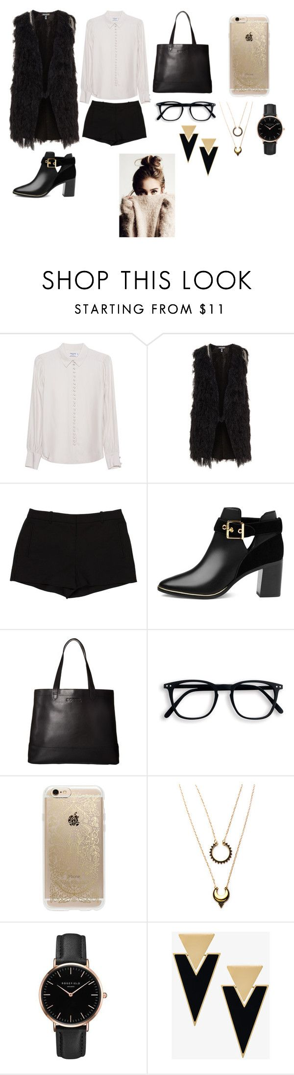 """школа"" by reduska on Polyvore featuring мода, Frame Denim, L'Agence, Ted Baker, SOREL, Rifle Paper Co, WithChic, Topshop и Yves Saint Laurent"
