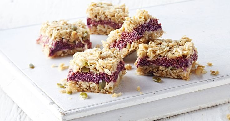These crunchy vegan muesli bars are the perfect any time snack.