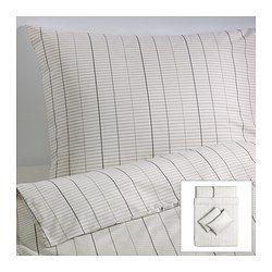 STOCKHOLM quilt cover and 4 pillowcases, beige Quilt cover length: 200 ...