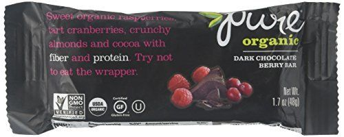Loaded with natural ingredients like fruits, nuts, and whole grains, and luscious elements like chocolate, vanilla and nut butters, Pure Bar products are pure joy. These Pure Organic bars feature a sweet combination of organic rasberries, tart cranberries, crunchy almonds, and cocoa with fiber... more details at http://supplements.occupationalhealthandsafetyprofessionals.com/weight-loss/bars-snacks/product-review-for-pure-bar-raw-bars-dark-chocolate-berry-1-7-oz/