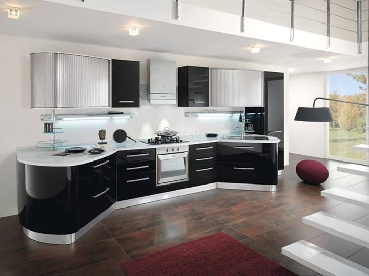 Spar Round Line: offers comfort, functionality and elegance to live give the rooms a cozy and serene. http://www.spar.it/ita/Catalogo/Cucine/Cucine-moderne/ROUND/Proposta-ROU-1-cd-488.aspx