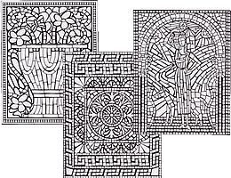 printable roman mosaic coloring pages - geometric mosaic coloring pages mosaic colouring