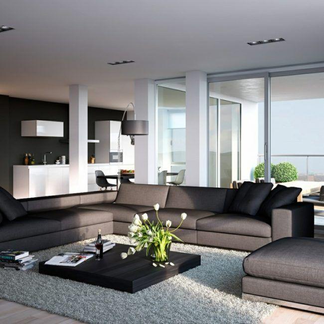 Best 25+ Couchtisch Grau Ideas On Pinterest | Weiße Sofas, Weiße ... Einrichtungsideen Wohnzimmer Schwarz Weis