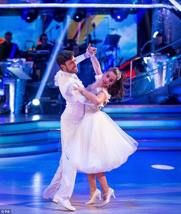 Magical: Georgia May-Foote then danced the quick-step with Giovanni to the Cathy Dennis-pe...