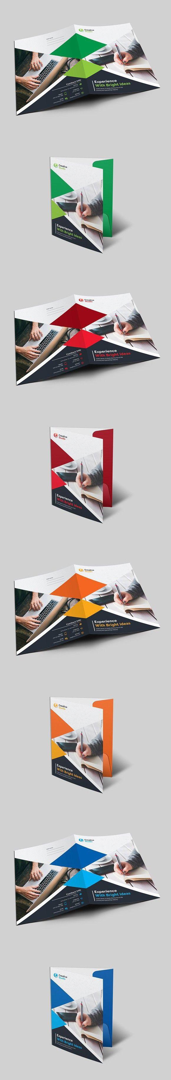 Corporate Presentation Folder. Stationery Templates