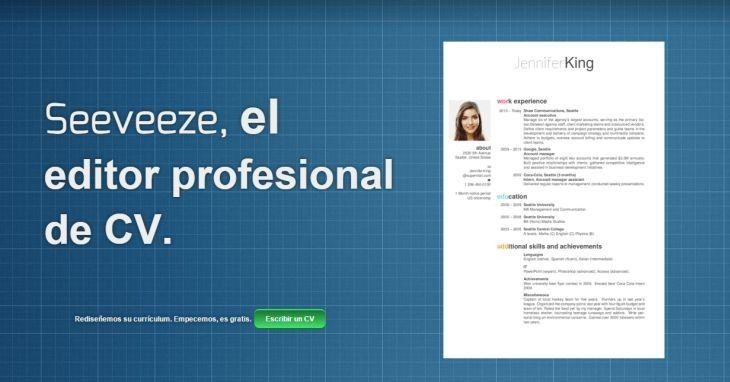 ONE: Seeveeze, plataforma que te permite crear tu curriculum en línea