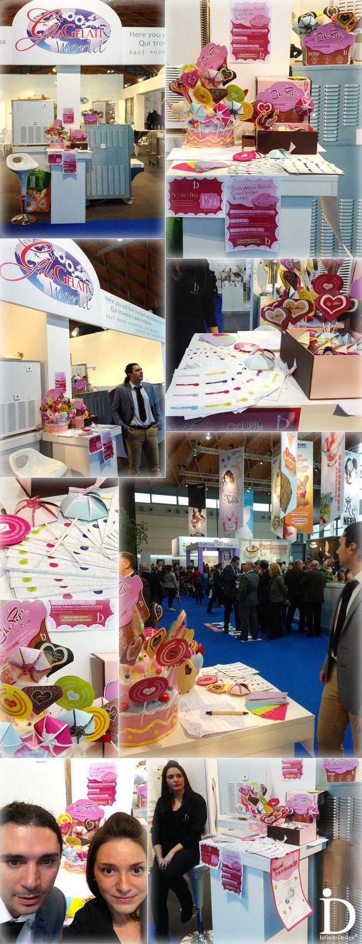 """Giornata al #SIGEP 2014 con i nostri amici GiGelati! - Packaging Innovativo per il settore, chiamata """"CakePops CarD-esign"""", interamente personalizzabile nei colori e loghi di Pasticcerie, Gelaterie, Cake Designer"""