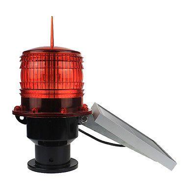 Red Solar 4.8V 630MA 3W Lamp Aviation Obstruction Lights Navigation Warning Light Outdoor Lighting 29 x 16cm IP66 500m to 1km #Affiliate