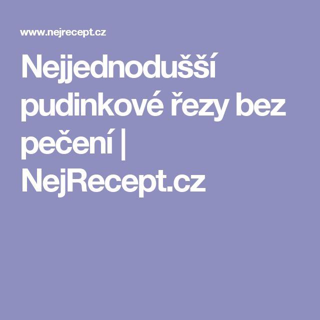 Nejjednodušší pudinkové řezy bez pečení | NejRecept.cz
