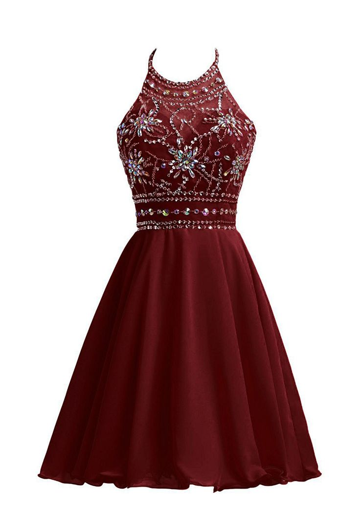homecoming dresses,short homecoming dresses,fashion homecoming dresses,burgundy homecoming dresses,beading homecoming dresses,a-line homecoming dresses,halter homecoming dresses
