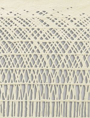 Handmade Decorative Paper, Arching Grid, Pearl
