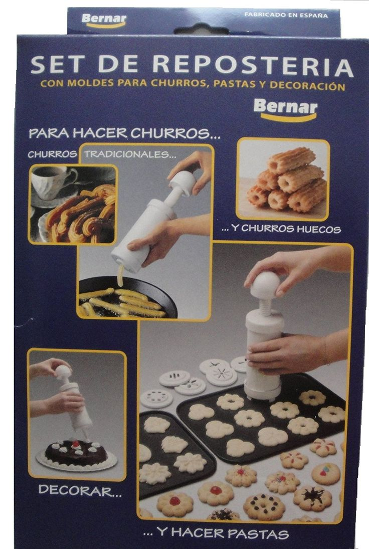 Bernar Churrera Churro Maker Hand Operated with 13 Nozzles Including Hollow Nozzle to Make Churros At Home ** Special discounts just for this time only  : Baking gadgets