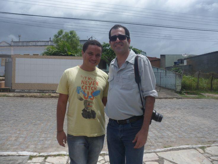 Eu e o meu Professor Antonio Lindvaldo